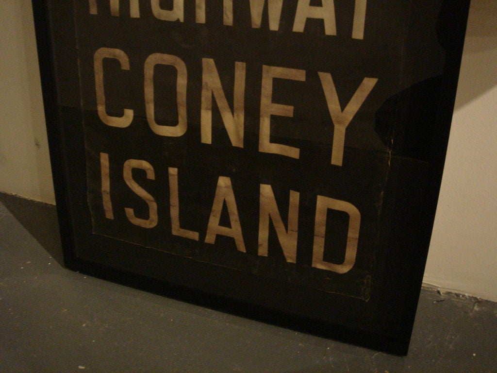 Vintage New York Subway Sign In Custom Frame Quot Coney