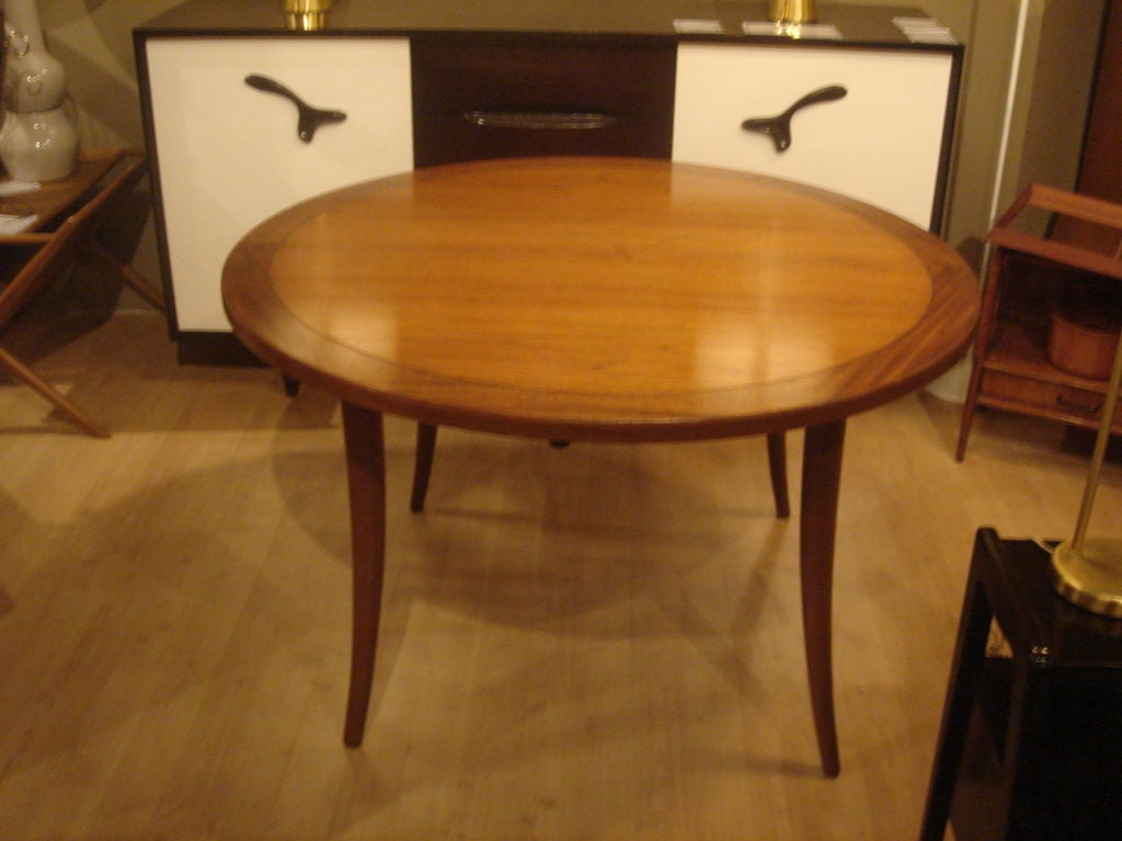 klismos table ~ klismos round dining table by harvey probber at 1stdibs
