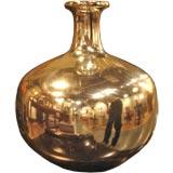 Antique Silvered Glass Vase