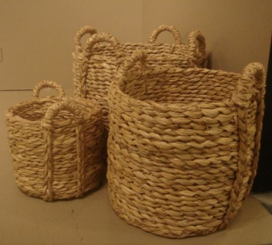 Woven Rush Planter For Sale At 1stdibs