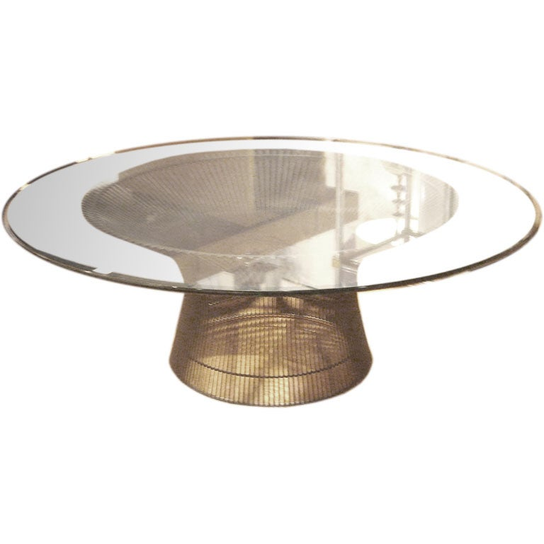 Vintage Bronze Coffee Table By Warren Platner For Knoll 1