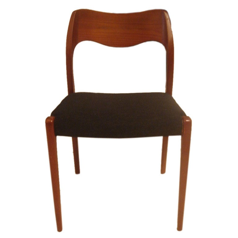 Danish Teak Dining Chairs By Moller At 1stdibs