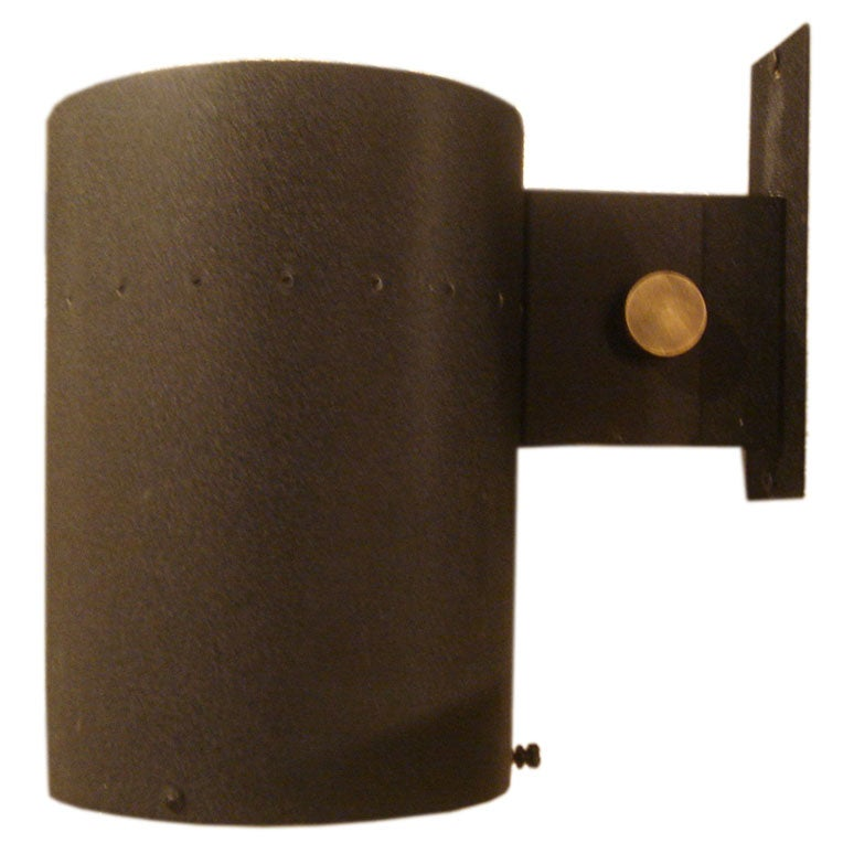 Lightolier Exterior Wall Sconces : Midcentury Black Metal Sconce by Lightolier at 1stdibs