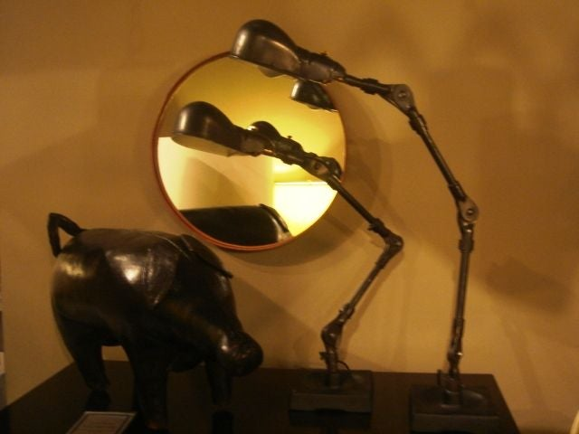Pair of Industrial Table Lamps by Fostoria For Sale 1