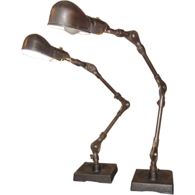 Pair Of Industrial Table Lamps By Fostoria 1 Part 50