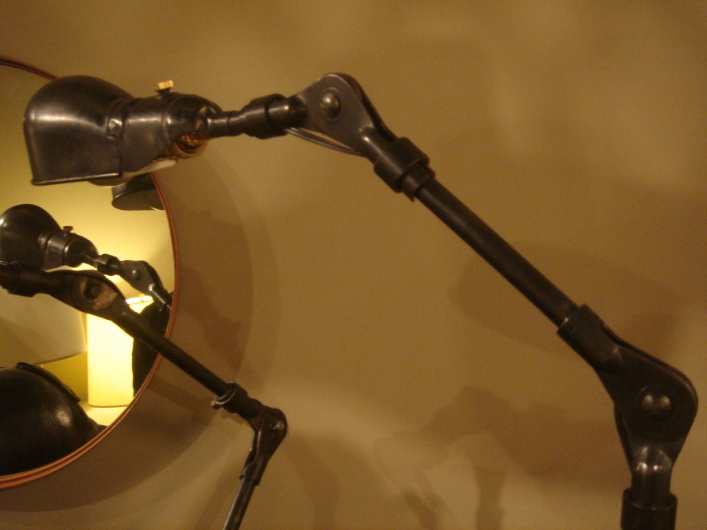American Pair of Industrial Table Lamps by Fostoria For Sale