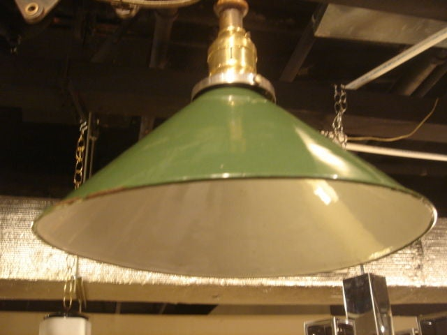 Vintage Industrial Scissor Wall Lamp with Green Cone Shade 3