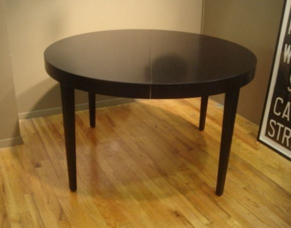 42 inch round walnut dining table by edward wormley for for Dining room tables 42 round