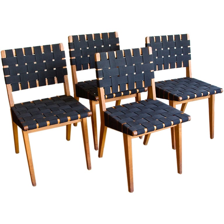 Set Of Four Dining Chairs By Jens Risom 1