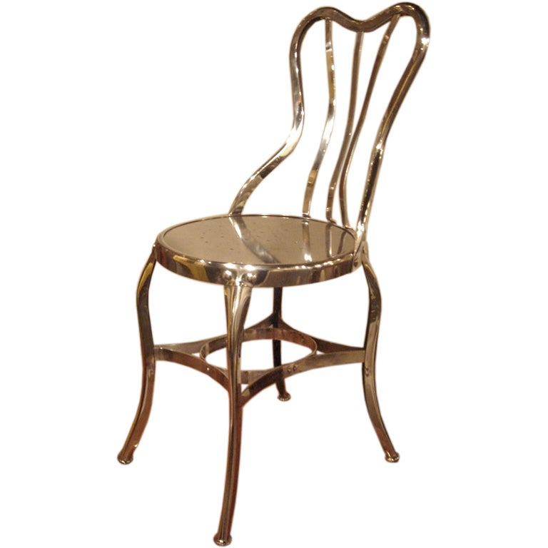 Set Of 1 To 10 Antique Metal Chairs By Toledo At 1stdibs