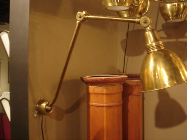 Wall Extension Lamps : Vintage French Brass Wall Extension Lamp at 1stdibs