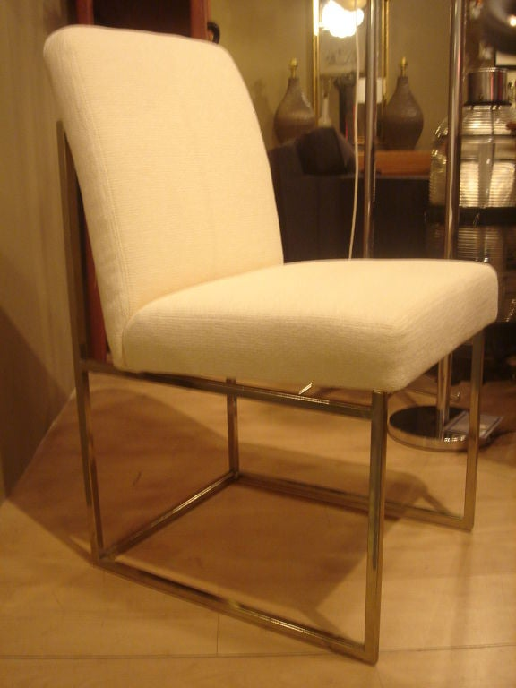 Set of Minimalist Brass Dining Chairs by DIA in COM For  : milobrass4 from www.1stdibs.com size 576 x 768 jpeg 46kB