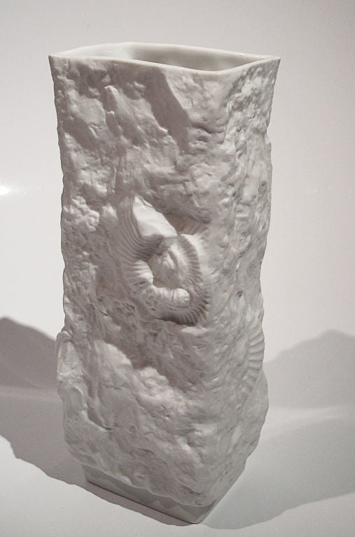 Small Fossil Vase By M Frey For Kaiser At 1stdibs