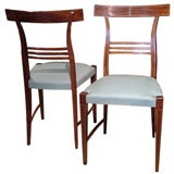 Pair of Exceptional Side Chairs by Paolo Buffa