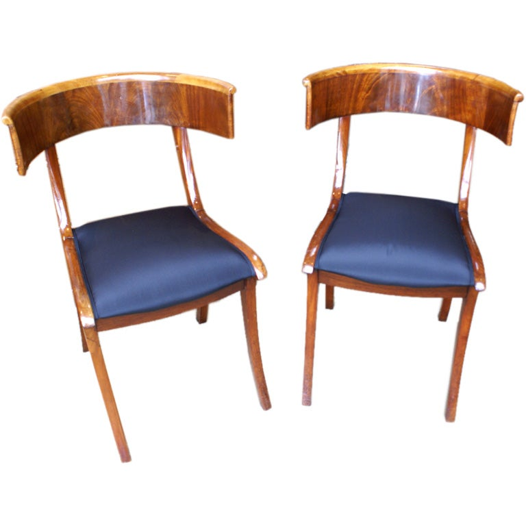 Pair of Klismos Chairs at 1stdibs