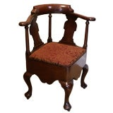 George III Mahogany Corner Chair