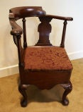 George III Mahogany Corner Chair thumbnail 2