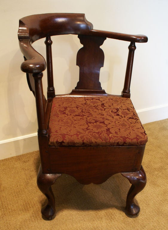 George III Mahogany Corner Chair 2