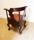 George III Mahogany Corner Chair image 3