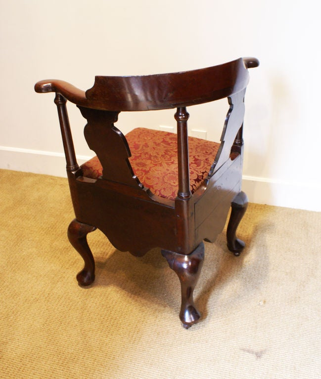 George III Mahogany Corner Chair 3
