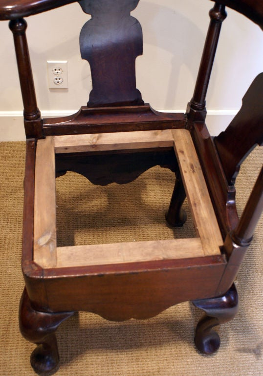 George III Mahogany Corner Chair 6