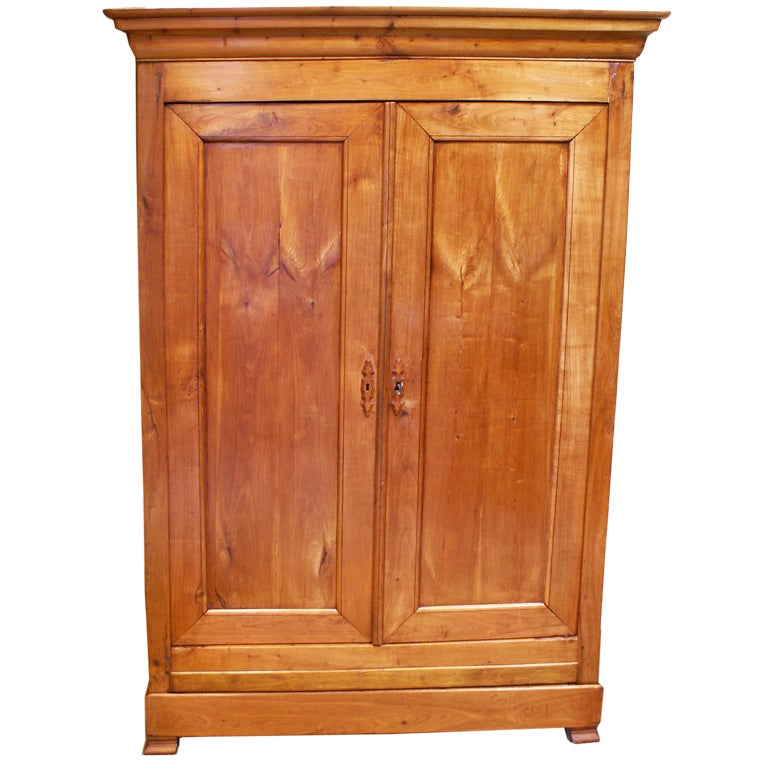 louis philippe fruitwood armoire at 1stdibs. Black Bedroom Furniture Sets. Home Design Ideas