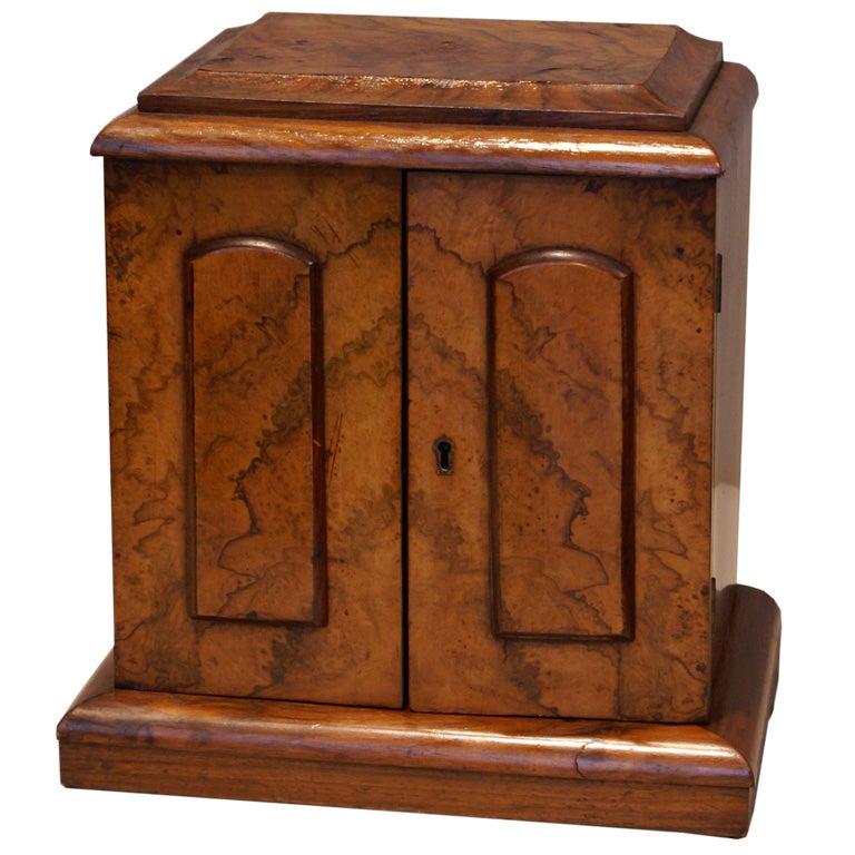 Burled Walnut and Rosewood Jewelry Box