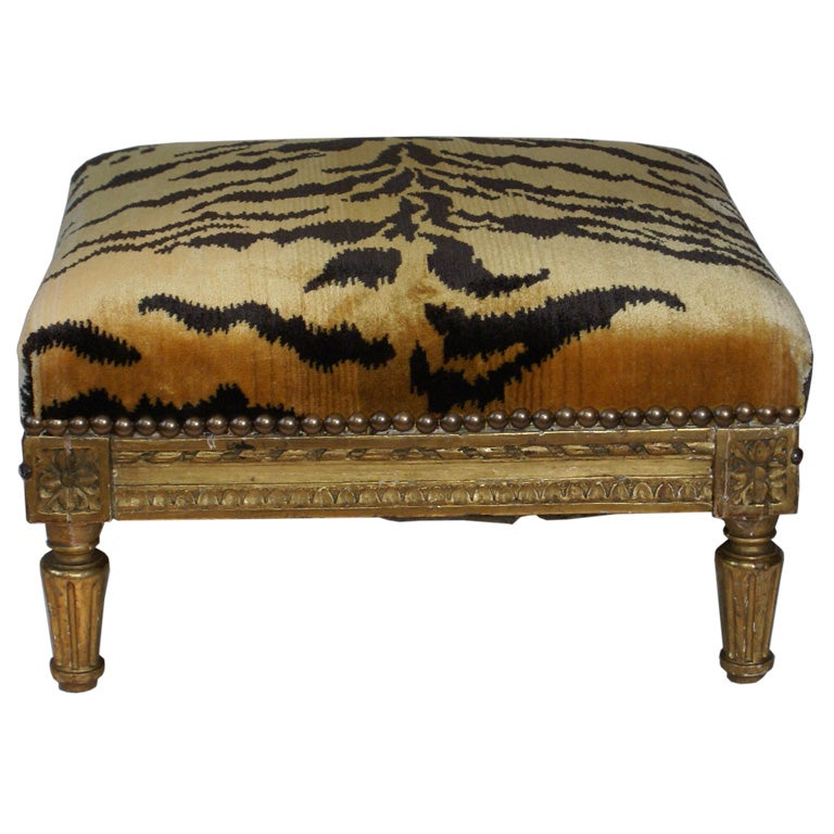 Gilt Wood French Foot Stool At 1stdibs
