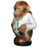 "Majolica ""Gentleman Monkey"" Pitcher"