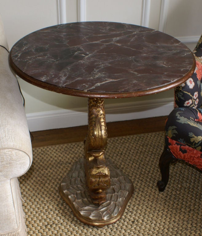 Dolphin Pedestal Table At 1stdibs