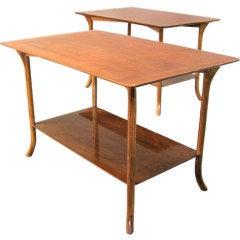 Pair of T.H.Robsjohn-Gibbings Klismos Lamp Tables