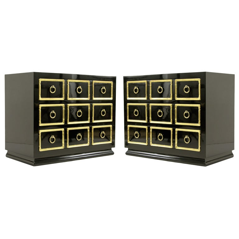 pair of dorothy draper custom chests for the fairmont hotel at 1stdibs. Black Bedroom Furniture Sets. Home Design Ideas