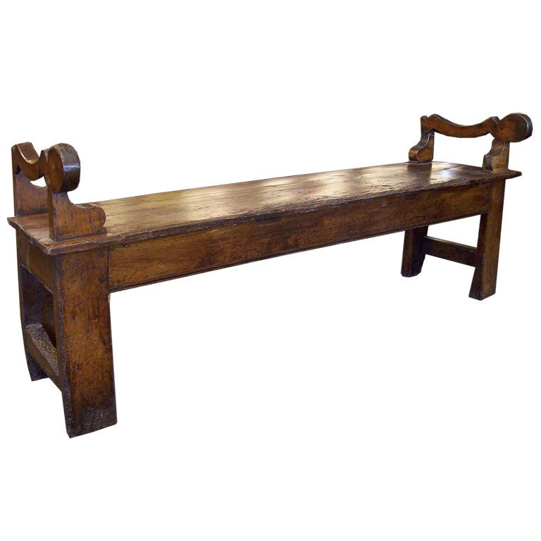 Charming Antique French Cherry Bench At 1stdibs