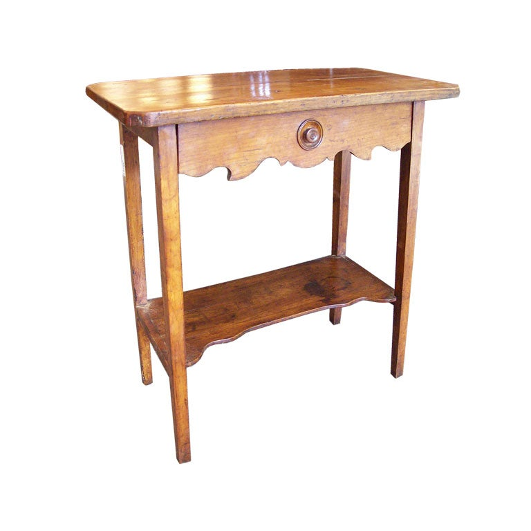 Very pretty small antique cherry table at 1stdibs for Very small side table