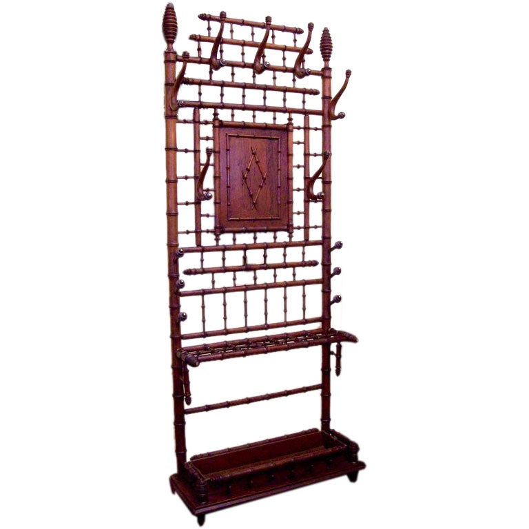 Antique French Faux Bamboo Hallstand At 1stdibs