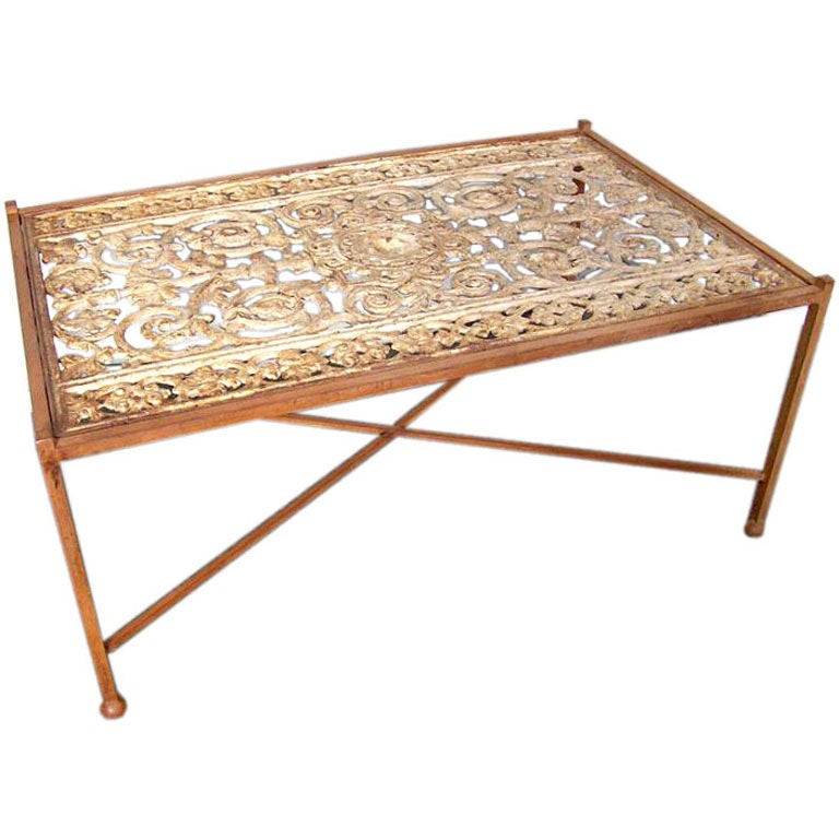Antique French Window Grille Coffee Table At 1stdibs