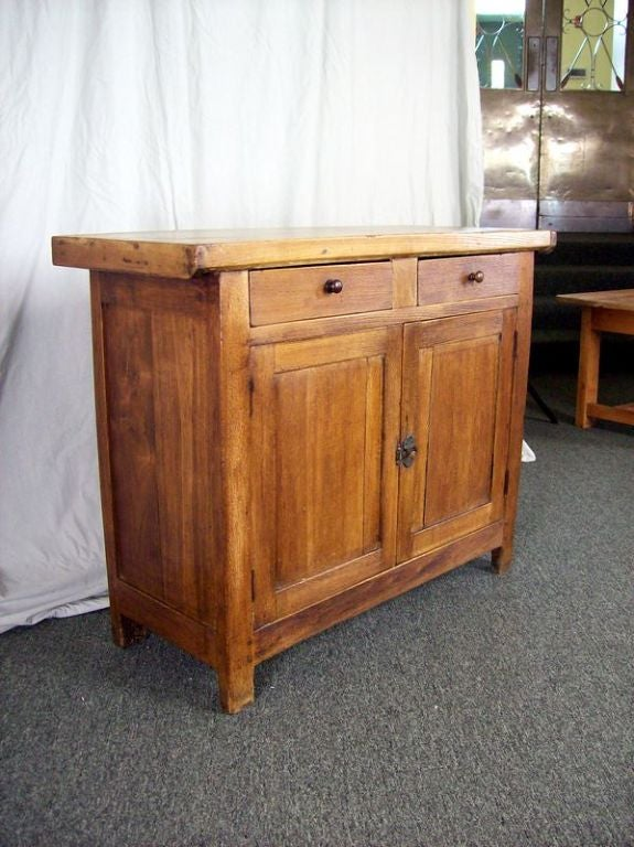 antique french butcher block top buffet at 1stdibs