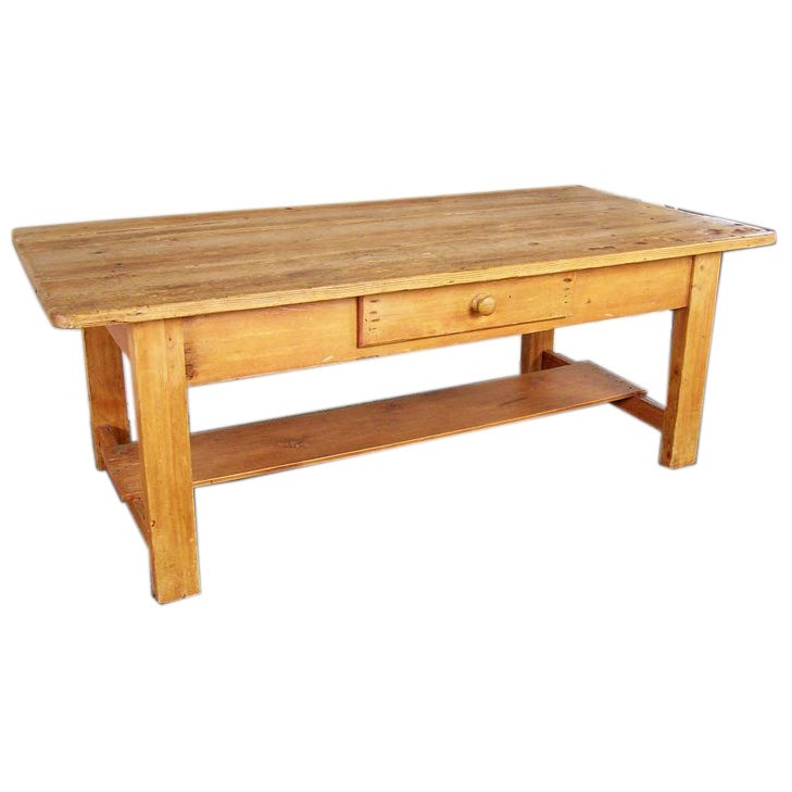 Antique Irish Pine Coffee Table At 1stdibs