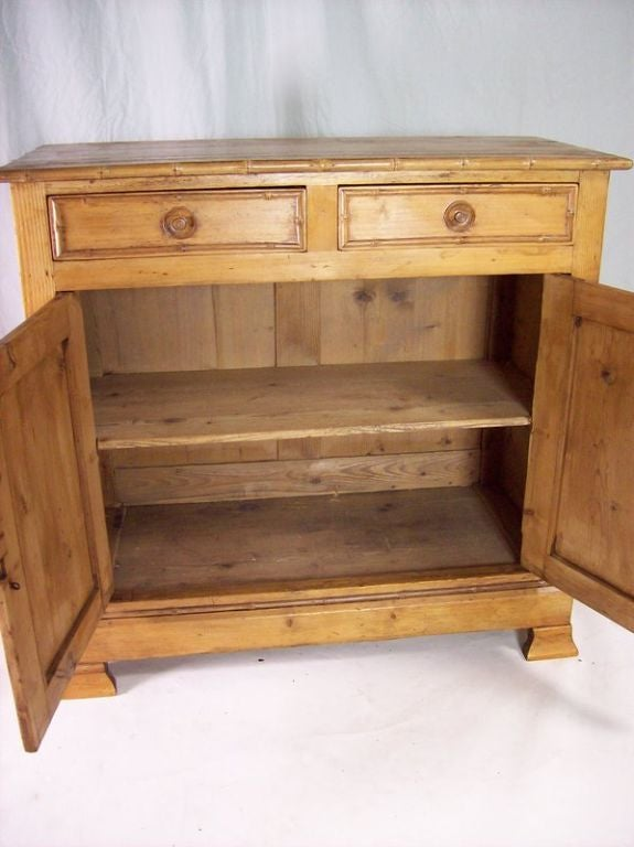 gothic kitchen cabinets antique pine buffet with faux bamboo trim at 1stdibs 1269