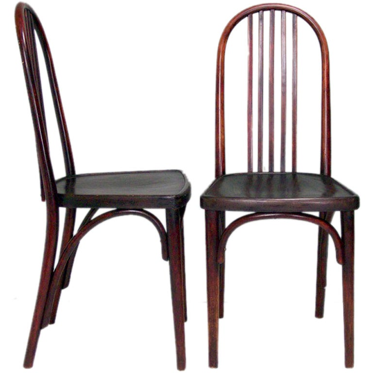 FOUR THONET Bent Wood Side Chairs At 1stdibs