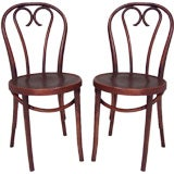 Six Thonet-Style Bentwood Side Chairs