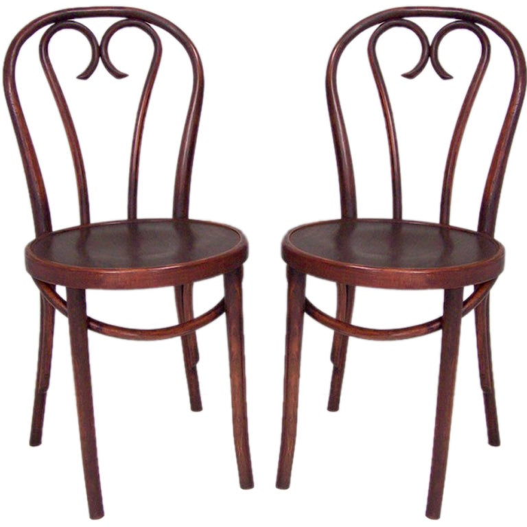 Six Thonet Style Bentwood Side Chairs At 1stdibs