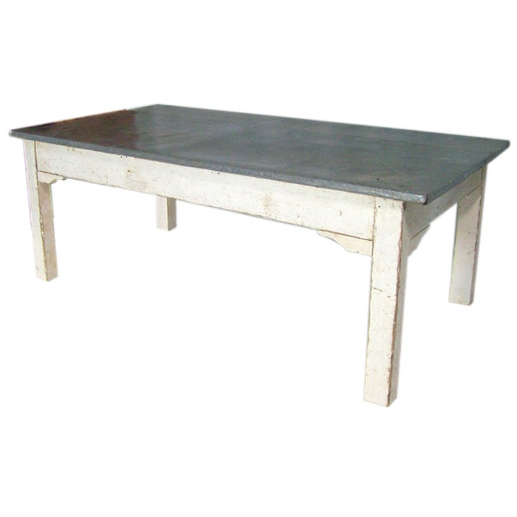 antique french zinc topped coffee table at 1stdibs