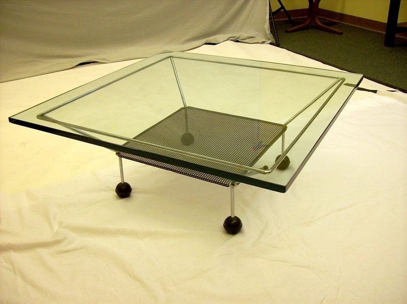 1960 39 S Atomic Age Chrome Coffee Table At 1stdibs