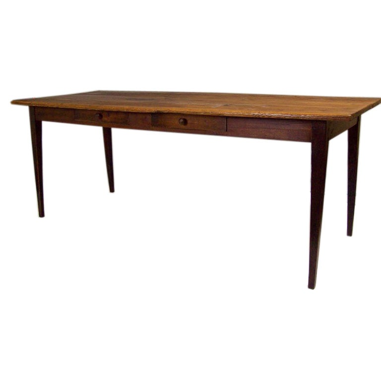 Antique French Country Pine And Oak Farm Table At 1stdibs