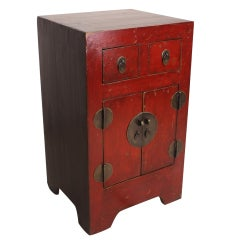 Small Antique Lacquered Chinese Cupboard