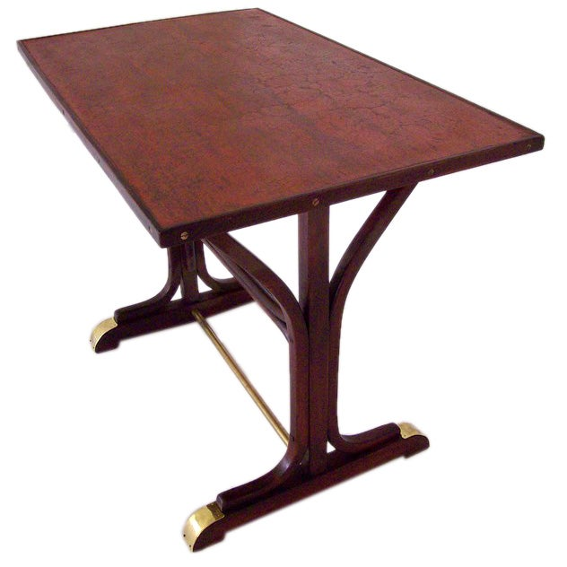 Original thonet brass footed bistro table for sale at 1stdibs for Table thonet