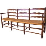 Long Antique French Country Bench