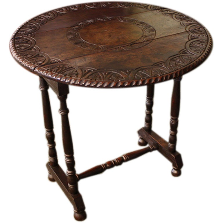 antique welsh carved small table at 1stdibs