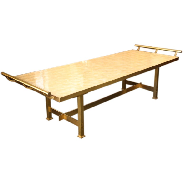 Harvey Probber Brass And Mica Coffee Table At 1stdibs